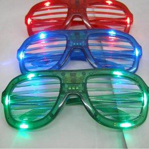 LED Light Glasses Flashing Shutters Shape Glasses LED Flash Glasses Sunglasses Dances Party Supplies Festival Decoration Christmas Hollowen