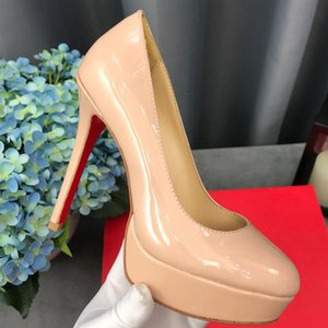 Sexy High Platform Party Shoes New Women Concise Solid Patent Leather High Heels Shoes Fashion Shallow Wedding Shoes Woman
