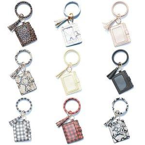 Keychain Card Bag Women Men Leopard Snake Wallet PU Leather Tassel Kabaw Fashion Bracelet Keychain Coin Purse Christmas Gift Bracele CLSK246