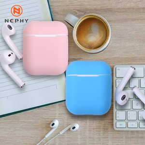 Nephy silicone suave Earphones capa para a Apple Airpods Air Pods Wireless Headphone Capa protetora Headset Box Saco bonito Bluetooth