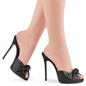 ENMAYER Butterfly-nodo sottile alti calza Womens Open Toe Solid Sexy Diapositive colore della signora l'Summer Pantofole Sandali Scarpe da Tennis