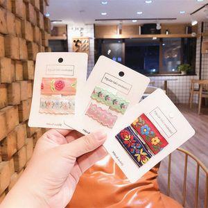 Accesorios 1 par de pelo coreana dulce Niña hermosa de la manera Clip bordado Tela BB de la princesa del bebé Barrettes Headwear T0Bz #