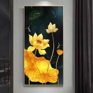Современное искусство Элегантный лотоса холст Картина стены искусства Картины для гостиной Home Decor (без рамки)
