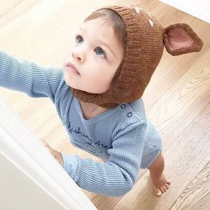 ins mottled sika Hu ear ins mottled sika deer wool Wool hat deer Hu ear hat