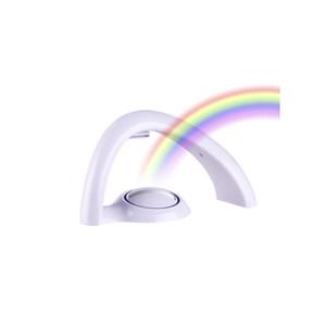 Luz suerte del arco iris de luz LED del proyector de las lámparas de la batería de alimentación del bebé niños de decoración de interior noche increíble suerte LED de colores luminaria