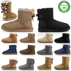 de los hombres de calidad Australia Classic bajo las botas de alta botas de color gris negro marrón chocolate botas de nieve del invierno de tamaño 40-45