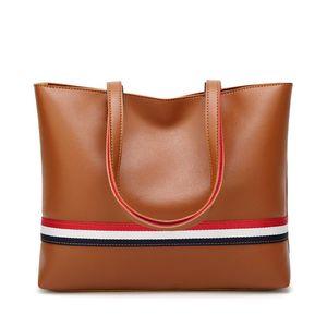 Laimall Big Bag Woman American and European Colour Tote Bag New Large Capacity Women's Bag 100 Lap Stripes Single Shoulder Handbag