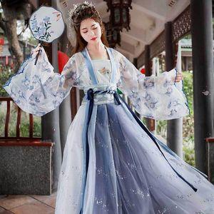 yQo6f Canghai Fu Han clothing female Long skirt ancient costume fairy spirit Chinese style Elegant Flower God Fu ancient style Daily costume