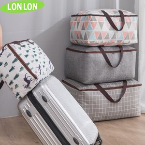 and linen travel packing box cotton quilt Oxford cloth Packaging Cotton quilt storage storage bag luggage clothes moving packing bag