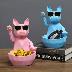 Nordic geometric three-dimensional lucky cats statues home crafts storage box living room TV cabinet storage box ornaments gift T200710