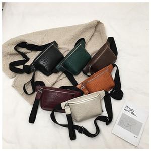 Alligator Pattern Leather Waist Bags Ladies Belt Bag Women ins Disco Pouch Wallet Small Travel Hip Chest Pack Bum