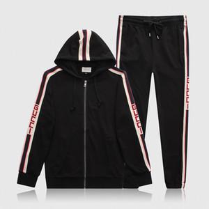 2020 vestito Desinger Jogging Uomini MedusaSportwear Jogger Suits correnti del mens rivestimento della chiusura lampo + tute pantaloni Felpe Casual