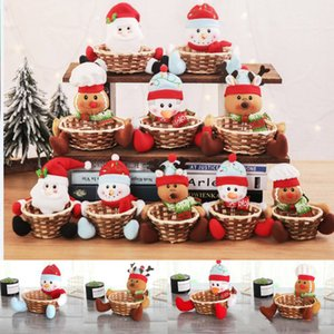 5 Styles Christmas Basket Decorations Christmas fruit basket Children large size gift boxes candy Boxes Biscuits basket HH9-A2576