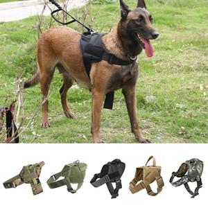 Köpek Harness K9 Walking Ayarlanabilir Naylon Pet Köpek Yaka Yelek Bungee Tasmalar Harness için Küçük larges Köpekler Alman Çoban