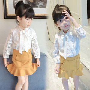 Baby Girls Clothing Sets Spring Autumn Lace Shirts+Skirts 2PCS Suit Fashion Summer Children Clothes Girls Set 2 3 4 5 6 7 Years