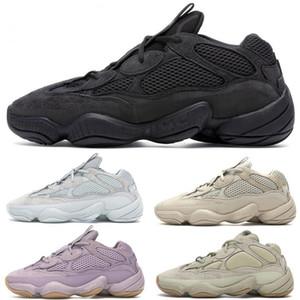 Mens White Bone 500 Chaussures de course Vision Femmes souple Utility Noir Kanye West Sel super Lune Jaune Rose Taille Designer Sport Formateurs 36-46