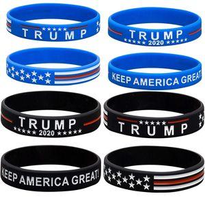 Buque de la Trump 2020 pulsera partidarios pulsera de silicona hacer de Estados Unidos Gran Carta De nuevo pulsera de silicona Donald Trump pulsera de Baloncesto