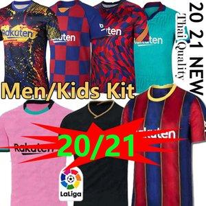 TOP FC BARCELONE maillot de football 2020 2021 camisetas de futbol ANSU FATI 19/20 Messi Griezmann DE JONG hommes Maillots de chemise de football kit enfants