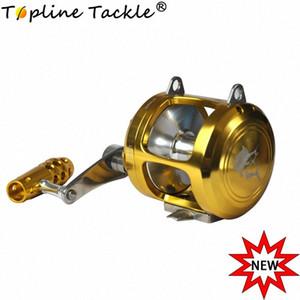 Topline Tackle 30 II Vitesse Moulinets Niveau vent Bobine conventionnelle Jigging Traîne Bobine pour Saltwater Big Game Fishing OLhX #