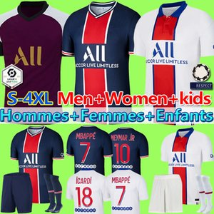 Maillot PSG Jersey 2021 psg  Soccer Jersey MBAPPE ICARDI GANA VERRATTI 20 21 2020 Football Shirt Men Kids Kit maillot de foot maillots de football