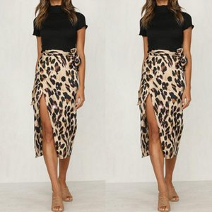 2020 New Fashionable Women Summer Leopard Print Skirt Ladies Sexy And Charming High Waist Polyester Skirt
