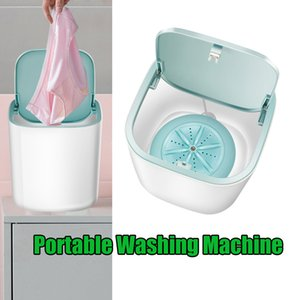 Washing Machine for Makeup Brush Pants Travel Camping Blue & Sponge
