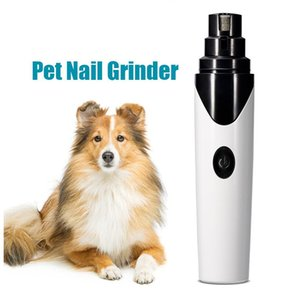Electric Pet Nail Sharpener White Black Grinder Automatic Clipper USB Rechargeable Cat Dog Manicure Trimmer Pets Grooming Tool