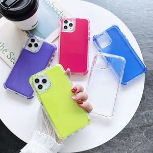 Color transparent phone case Shockproof Frame high quality anti-fall for iphone 11 pro max case Clear phone cover for iphone 11 back cover
