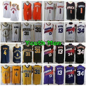 2020 Youth Mens Pacers4 Victor Oladipo 31 Miller Jersey Suns1 Devin Booker 13 Steve Nash 34 Charles Barkley Basketball Jersey