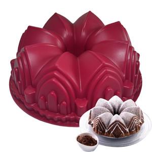 빅 크라운 성 케이크 금형 실리콘 3D 생일 케이크 팬 장식 도구 대형 빵 퐁당 DIY 베이킹 과자 도구