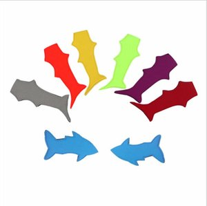 Porte-néoprène Popsicle Holder Shark manches Ice Protection Pack Isolation enfant Gel Housse populaire Solide Couleur glace Manches LSK366