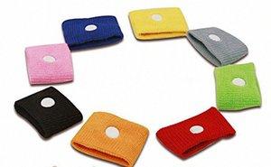 Colore della caramella Anti Nausea braccialetti auto Anti Nausea malattia riutilizzabile Movimento mare malato fasce di viaggio da polso Health Care Con Clear Box. Ho j63e #