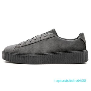 1Discounts PM Rihanna Fenty Creeper 2019 Classique Plate-forme Chaussures Casual Velvet Cracked cuir Suede Hommes Femmes Styliste Chaussures T02