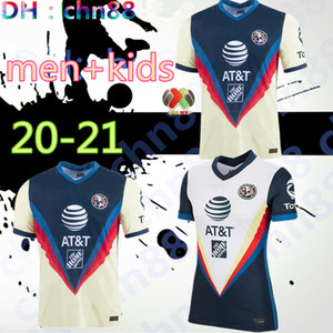 hommes + enfants 2020 LIGA MX Club America football Maillots 20/21 équipe America # 10 C.DOMINGUEZ 24 # 22 # O.PERALTA P.AGUILAR football chemise d'uniforme