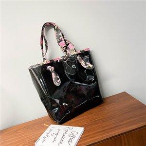 Summer 2020 new all-match Hand summer flower cute plastic mother shoulder Handbag shoulder bag bag