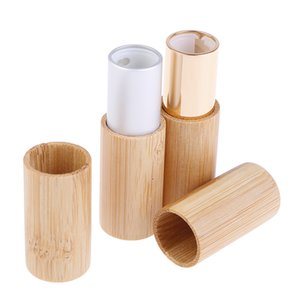 1PC Bamboo Batom tubo DIY bambu vazio Tubo Lip Batom Container Gross Container Lip Tubes