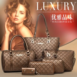New tote with pouch set of 6 fashion and shoes fashionable shoulder portable over-the-shoulder bag bags bags shoes