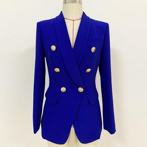 Sondr 2020 Tasarımcı Blazer Ceket Kadınlar Kruvaze Metal Düğmeler Blazer Ceket Rahat Kadın Fashioin Gelgit Boy