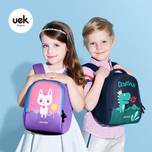 uek Backpack kindergarten schoolbag for boys and girls 2-4-6 years old cute baby schoolbag light cute girl children backpack