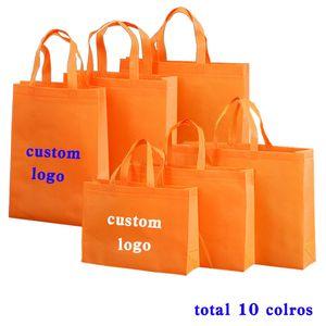 11 colori della borsa caso shopping bag regalo promozionale riciclato sacchetto confezione di vendita non bag personalizzata tote tessuto Logo personalizzato