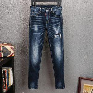 19SS Mens Designer Jeans 2019 Spring Black Ripped Distressed Holes Design Jean Pencil Pants Pockets Hommes Pantalones 4659