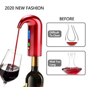 Elektrik Şarap Pourer Havalandırıcı Dağıtıcı Pompa USB Şarj edilebilir Cider Dekanter Pourer Şarap Aksesuarları İçin Bar Evde Kullanım