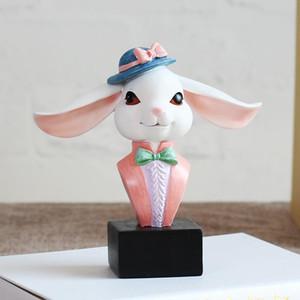 Rabbit Glasses holder glass Stand Handmade Resin Craft Lovely Eyeglass Sunglasses Holder Animal Ornament Figurine Home Decor gift