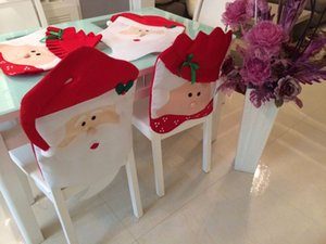 Christmas Decoration New Year Supplies Mr Mrs Santa Claus Kitchen Dinner Chairs Banquet Chair Cover CR18761840