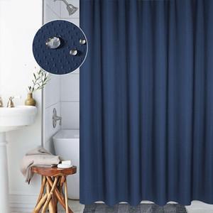 Modern Duş Duş Perde Yüzüklerin Katı Su geçirmez Uzun Kalınlaşmak İyi Banyo Perdeleri Set Perdeler