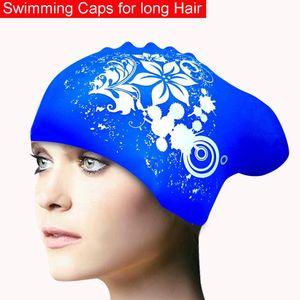 100% Silicone Swimming Cap for Long Hair Women's Waterproof Swim Caps Ladies Diving Hood hat for kids garras natacion casquette SS-23