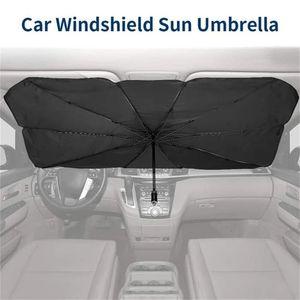 Pliable voiture Sun Umbrella Bloc chaleur UV-soleil parapluie pour la protection pare-brise Bloc chaleur UV facile à utiliser Dropshipping
