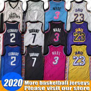 NCAA LeBron James 23 Jersey St. Vincent High School de 3 Dwyane Wade Jerseys Kevin Durant Kawhi Leonard College Basketball Jerseys