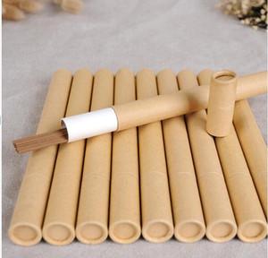 100шт Kraft Paper Благовония Благовония Tube Barrel Малый Box для хранения 10г / 20г Джосс палочке удобной переноски # 8213