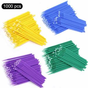 500 / 1000pcs / lot descartável Micro Brushes Lash Cotonete Maquiagem Cílios Extensão Individual cílios Aplicadores Mascara escova